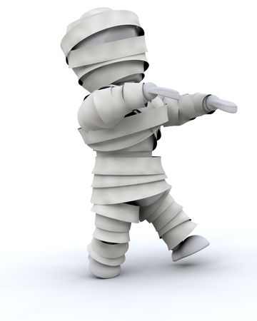 3d render of a man in halloween mummy costume