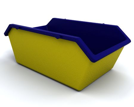3D render of Refuse skip for consctruction industry