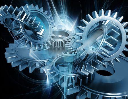 Photo pour Abstract gears background - image libre de droit