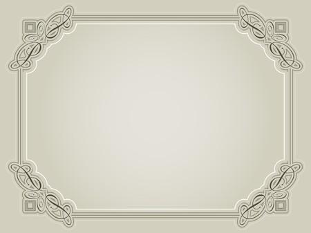 Photo pour Decorative certificate background in sepia tones - image libre de droit