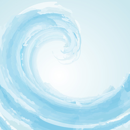 Abstract wave background in watercolour effect