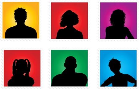 Photo pour Collection of various people avatars - image libre de droit