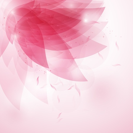 Decorative abstract floral background in shades of pink