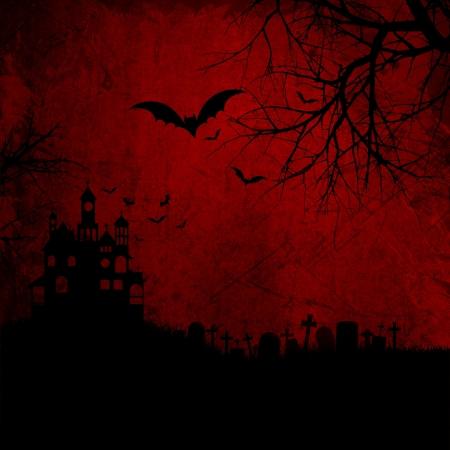 Grunge Red Halloween Background