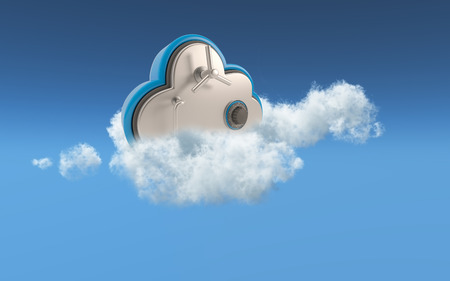 Foto de 3D conceptual image of security in cloud storage - Imagen libre de derechos