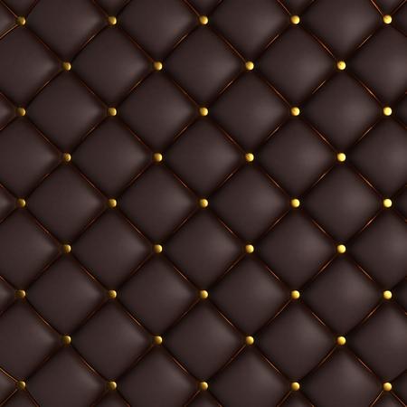 Foto de 3D Render of Quilted Leather Background - Imagen libre de derechos