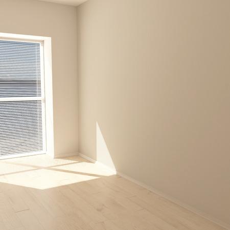 Foto de Render of 3D Contemporary Empty Room - Imagen libre de derechos