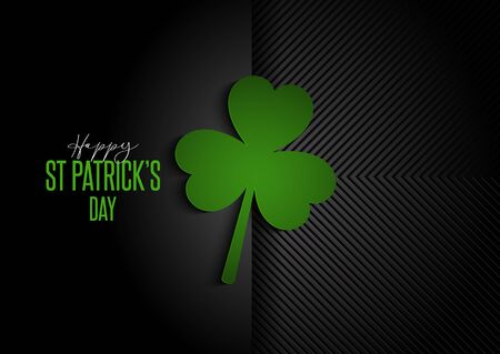 Photo for Modern background for St Patricks Day with clover design - Royalty Free Image