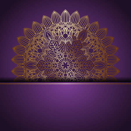 Illustration for Abstract background with an elegant mandala design - Royalty Free Image