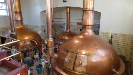 Copper brew kettle and mash tun