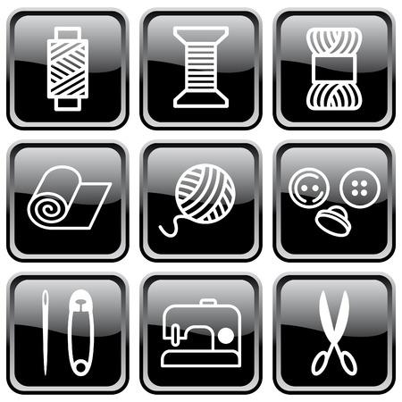 Sewing and needlework symbols