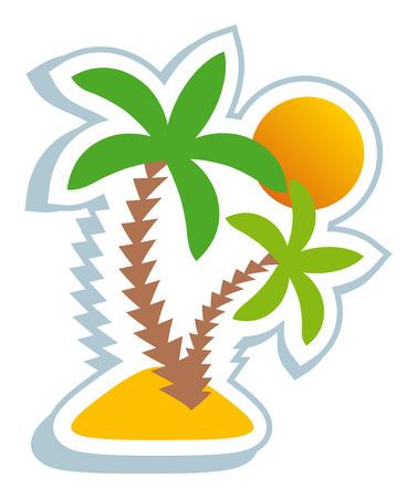 Illustration pour Tropical symbol - image libre de droit