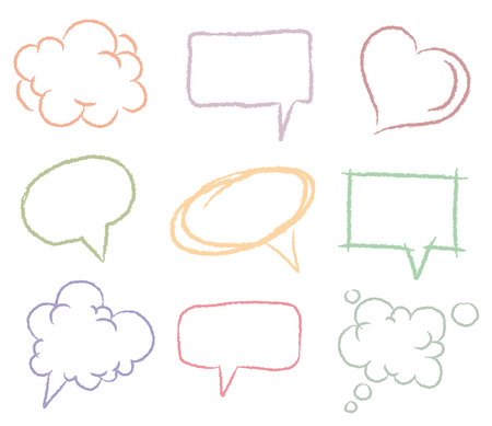 Illustration for Doodle sketch speech bubbles   - Royalty Free Image