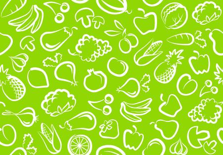 Foto für Seamless background with vegetables and fruit - Lizenzfreies Bild