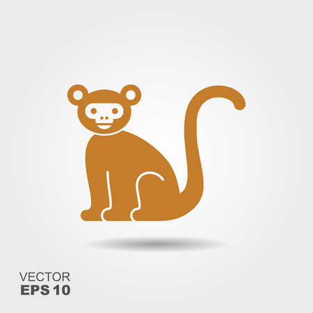 d6bd017a4 Vector Stylized Monkey Illustration Isolated On Grey Background ...