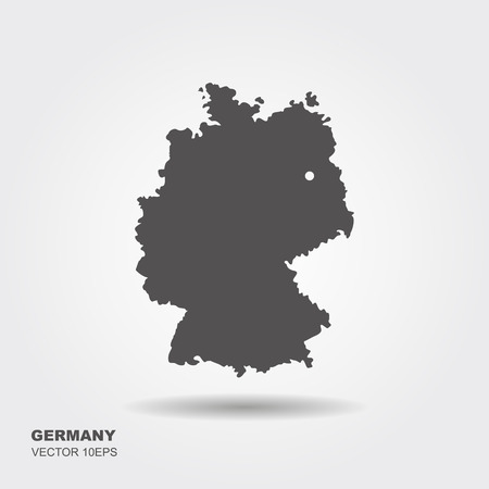 Map of Germany on white background.