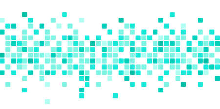 Illustration pour Abstract background with scattered mosaic pieces - image libre de droit