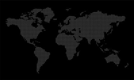 Illustration for world map on black background - Royalty Free Image