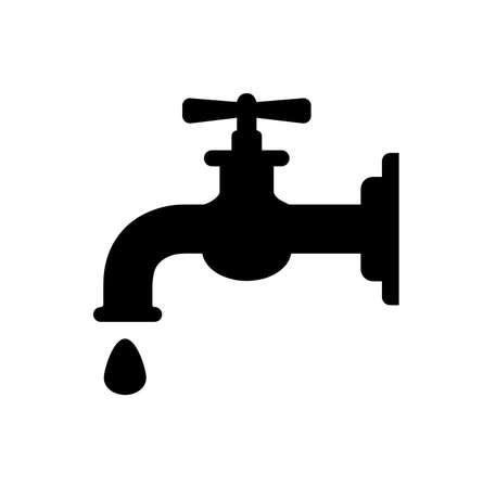 Illustration pour water tap isolated on white - image libre de droit