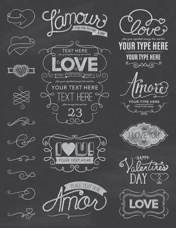 Chalkboard Love Design Elements One