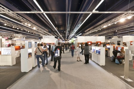 FRANKFURT, GERMANY - OCTOBER 8 2010: Visitors at the Frankfurt Book Fair.