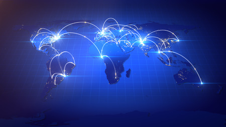 Photo pour Business or Internet Concept of Global Network. - image libre de droit