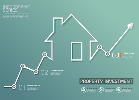Property Investment Line Diagram Template