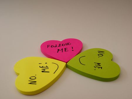 Confusion wich heart to follow