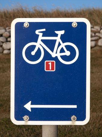 Blue Sign with Bicycle