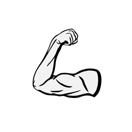 Illustration pour Strong Bodybuilder Biceps Flex Arm Icon - image libre de droit