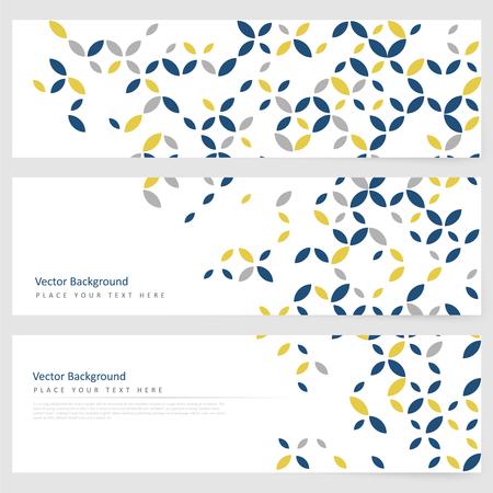 Ilustración de Abstract template horizontal banner with geometric ornament - Imagen libre de derechos