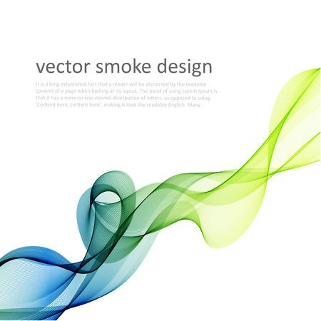 Foto de Abstract vector colorful background with transparent smoke - Imagen libre de derechos
