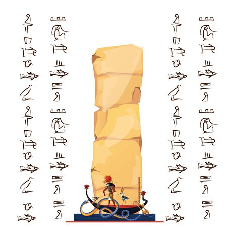 Ancient Egypt infographic cartoon vector travel concept