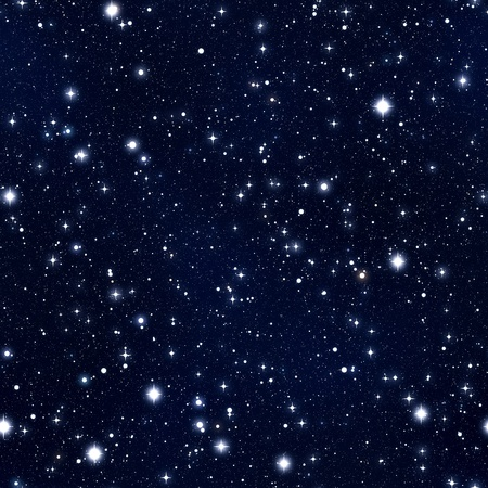 Seamless texture simulating the night sky with stars
