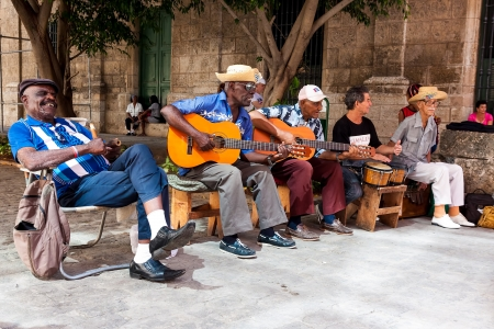 Traditional music group playing for tourists in Havana