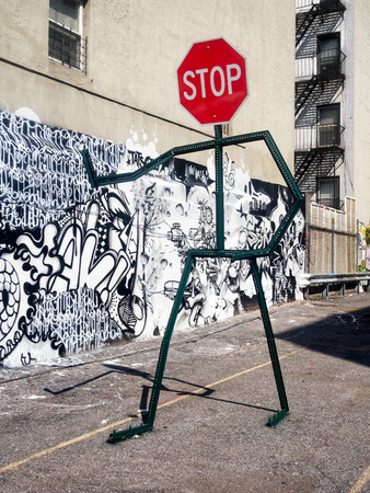 Street art at a parking lot in New York City