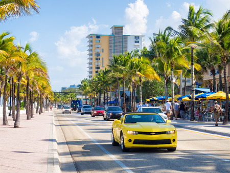 Fort Lauderdale beach in Florida on a summer day