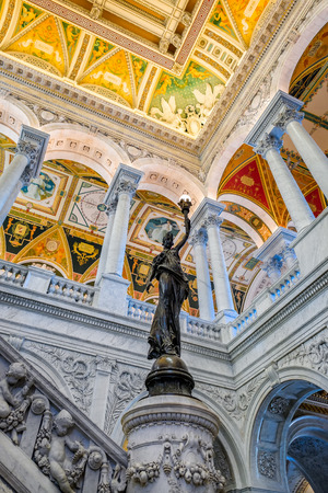 Interior of the Library of Congress in Washington D.C.
