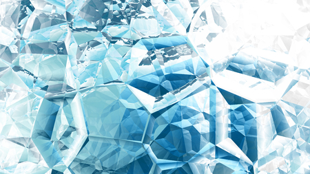 Photo for Blue and White Crystal Background - Royalty Free Image