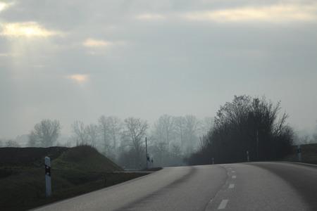 Tristesse in gray autumn