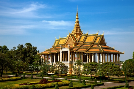 Foto de Moonlight pavillion in the Royal Palace of Phnom Pehn, Cambodia - Imagen libre de derechos