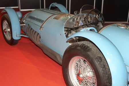 The ancient sports automobile on automobile show