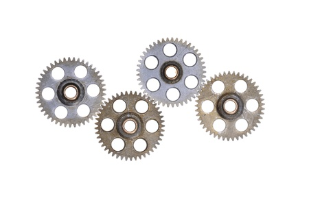 cog wheels - gears isolated on white background