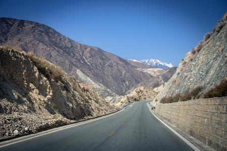 Country road at Shangri-la Yunnan China