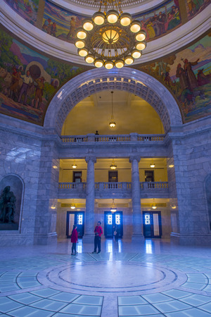 SALT LAKE CITY , UTAH - AUG 31 : The State Capitol Building interior in Salt Lake City, Utah on August 31 2014. The building was designed by architect Richard Kletting, and built between 1912 and 1916.