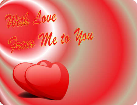 Valentine Love Card - With Love From Me To You II