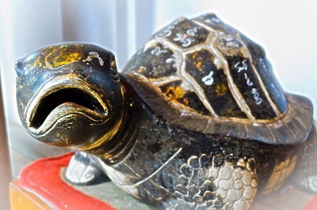 The Rock Turtle with Mystic Symbol,Thai believe that It Make Us Healthiness and Long Life.