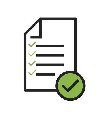 Illustration pour In compliance icon vector that shows a company passed inspection . - image libre de droit