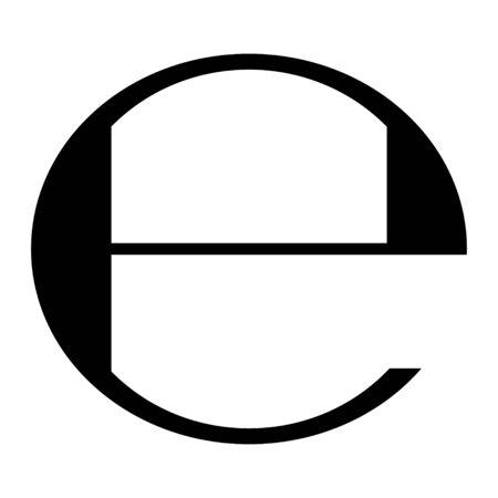 Illustration for Estimated sign isolated on white background. Label mark vector illustration . - Royalty Free Image