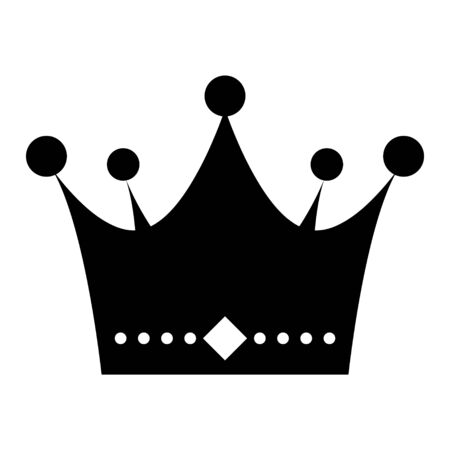 Illustration pour Crown flat vector icon isolated on white background. King sign illustration object . - image libre de droit
